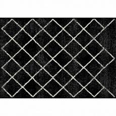 Koberec, černá/vzor, 57x90 cm, MATES TYP 1