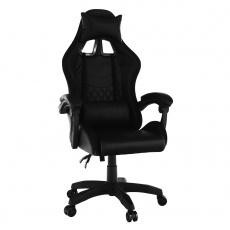 Kancelářské / herní křeslo s RGB LED podsvícením, černá, MAFIRO