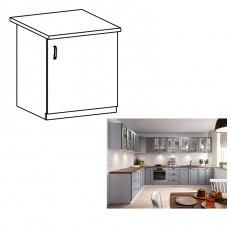 Spodní skříňka, šedá matná / bílá, pravá, LAYLA D601F