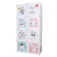 Dětská modulární skříň, šedý / dětský vzor, ATREY