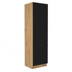Potravinová skříňka, černý mat / dub artisan, Monro 60 DK-210 2F