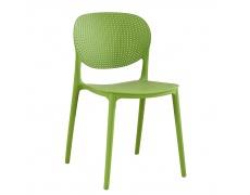 Stohovatelná židle, zelená, FEDRA