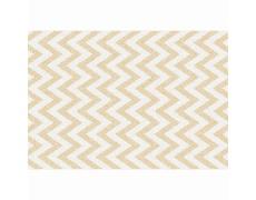 Koberec, béžovo-bílá vzor, 67x120, ADISA TYP 2