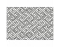 Koberec, bílá/šedá/vzor, 133x190, GADIR