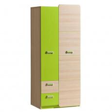 Věšáková skříň, jasan / zelená, EGO L1