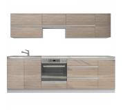 Kuchyňská sestava, dub sonoma/bílá, LINE