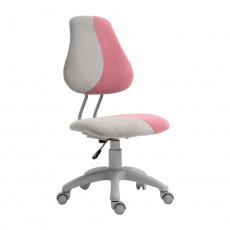 Rostoucí otočná židle, šedá/růžová, RAIDON