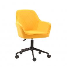 Kancelářské křeslo, Velvet látka žlutá / černá, SORILA