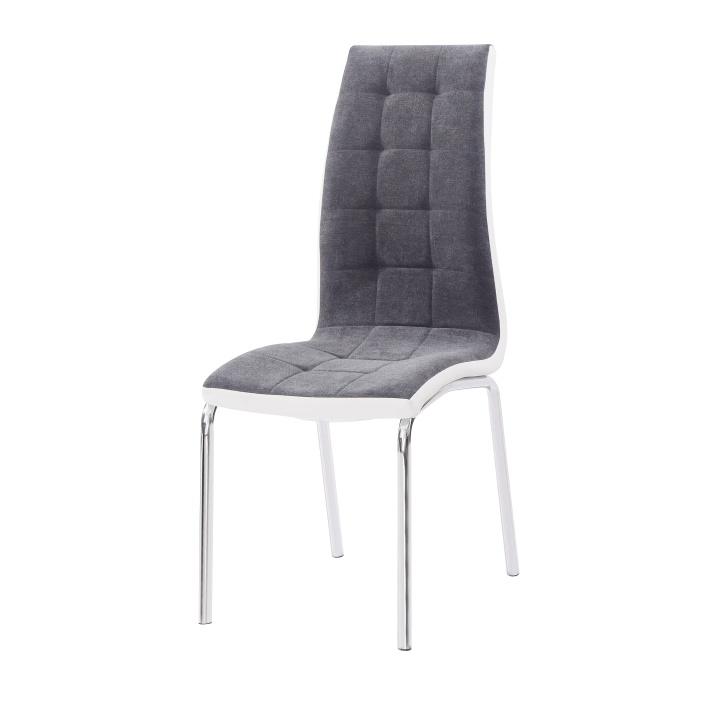 Jídelní židle, tmavě šedá / bílá, GERDA NEW