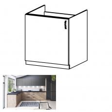 Dřezová skříňka, dub artisan, levá, LANGEN D60Z