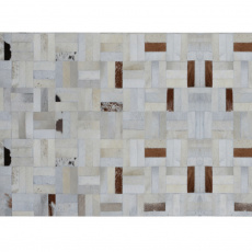 Luxusní koberec, pravá kůže, 70x140 cm, KOBEREC KOŽA TYP 1