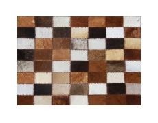 Luxusní koberec, pravá kůže, 168x240 cm, KŮŽE TYP 3