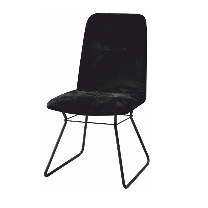 Moderní židle, černá látka / kov, ALMIRA