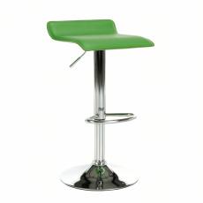 Barová židle, ekokůže zelená / chrom, LARIA NEW
