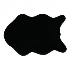 Umělá kožešina, černá, 60x90, RABIT NEW TYP 1