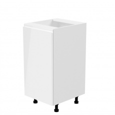 Spodní skříňka, bílá / bílá extra vysoký lesk, levá, AURORA D40