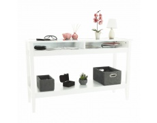 Konzolový stolek, bílá, FARUS