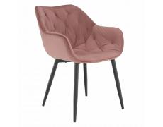 Designové křeslo, růžová Velvet látka, FEDRIS