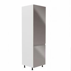 Potravinová skříňka, bílá / šedá extra vysoký lesk, pravá, AURORA D60R