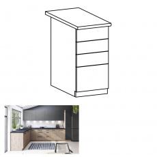 Spodní skříňka, dub artisan, s PUSH UP, LANGEN D40S3