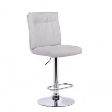 Barová židle, látka béžová / stříbrná, ANGUS