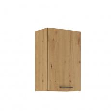 Horní skříňka, černý mat / dub artisan, Monro 45 G-72 1F