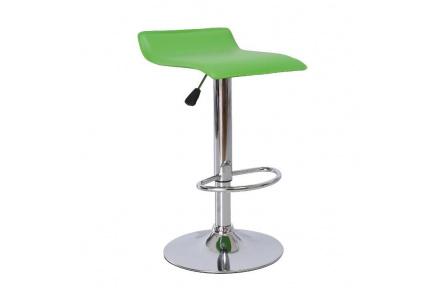 Barová židle, ekokůže zelená / chrom, LARIA