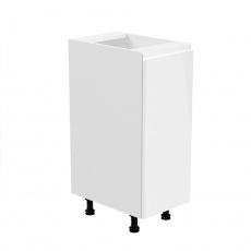 Spodní skříňka, bílá / bílá extra vysoký lesk, pravá, AURORA D30