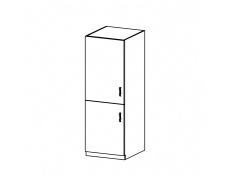 Potravinová skříňka, bílá/sosna andersen, levá, Provance D60R