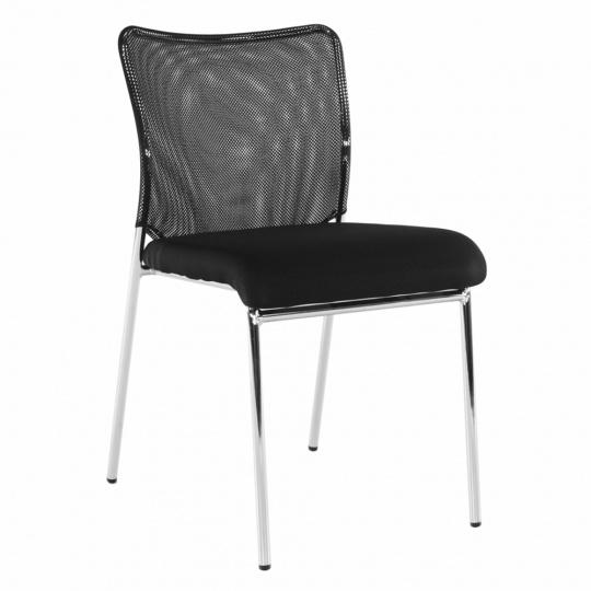 Zasedací židle, černá/chrom, ALTAN