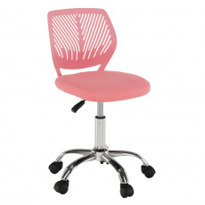 Otočná židle, růžová/chrom, SELVA