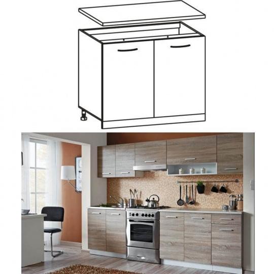 Skříňka do kuchyně, dolní, dub sonoma/bílá, CYRA NEW D 80