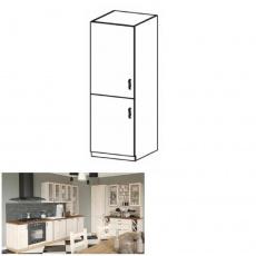 Vysoká skříňka, bílá / sosna skandinávská, levá, ROYAL D60R