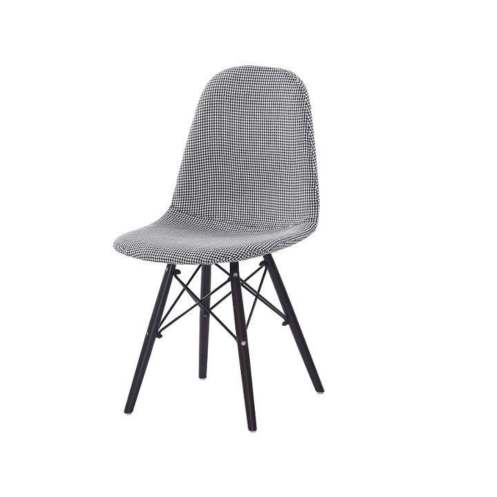 Jídelní židle, černá / bílá, AMPERA