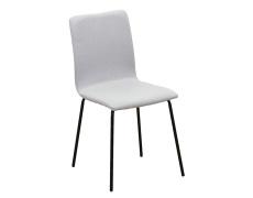 Jídelní židle, světle šedá / černá, RENITA