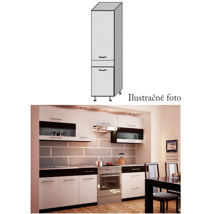 Potravinová skříňka, bílá / venge, JURA NEW B S-40