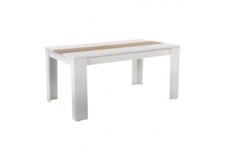 Jídelní stůl, bílá / dub sonoma, RADIM NEW