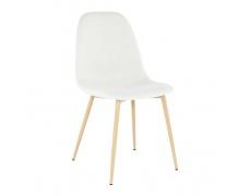 Židle, krémová látka / buk, LEGA