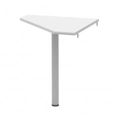 Rohový stolek, bílá/kov, JOHAN 2 NEW 06