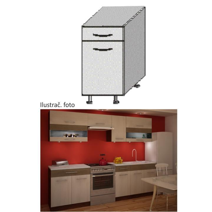 Kuchyňská skříňka, rigoleto light/dark, JURA NEW IA D-40