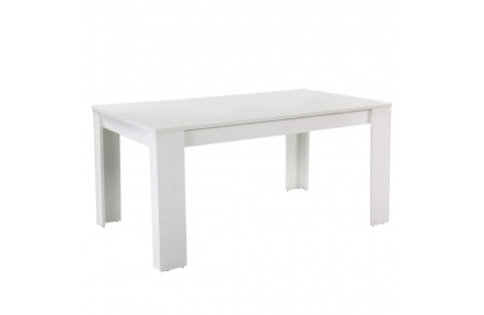 Jídelní stůl, bílá, 160, TOMY NEW