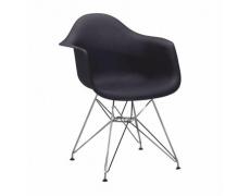 Židle - křeslo, černá + chrom, FEMAN NEW