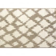 Koberec, krémově / bílá,  133x190, LIBAR