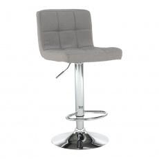Barová židle, taupe šedohnědá látka / chrom, KANDY NEW