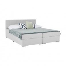 Boxspringová postel 160x200, světle šedá, FERATA KOMFORT