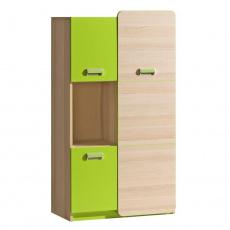 Skříňka, jasan / zelená, EGO L5
