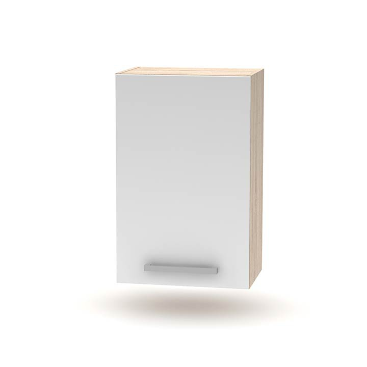 Horní skříňka 45 1DV, dub sonoma / bílá, NOPL-024-OH
