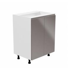 Spodní skříňka, bílá / šedá extra vysoký lesk, AURORA D602F