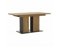 Jídelní stůl, dub craft zlatý/grafit šedá, FIDEL
