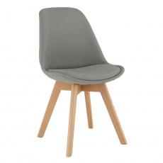 Židle, šedá / buk, LORITA